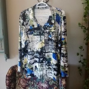 Velvet like Blouse with lot's of stretch